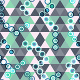 Colored geometric seamless pattern of triangles. Vector eps 10 Stock Images