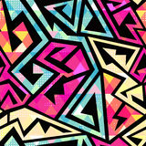Colored geometric seamless pattern. Vector eps 10 Stock Photo