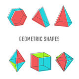 Colored geometric shapes vector illustration