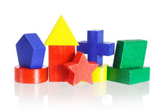 Colored geometrical blocks Stock Image