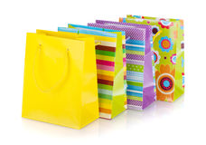 Colored gift bags Royalty Free Stock Image