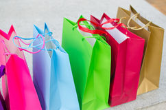 Colored gift bags Stock Image