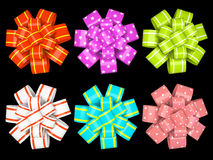 Colored gift bows Stock Photography