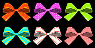 Colored gift bows Stock Image