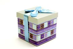 Colored gift box Stock Photo
