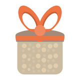 Colored gift box cute present party Royalty Free Stock Photos