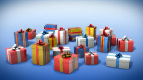 Colored gift boxes Royalty Free Stock Image