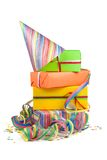 Colored gift boxes Stock Image