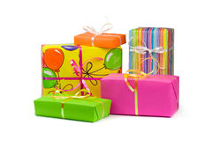 Colored gift boxes Royalty Free Stock Photography