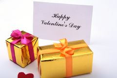 Colored gift boxes for celebration occasion. Place for your text. Stock Image