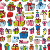 Colored gift boxes seamless pattern.Holiday Royalty Free Stock Photography