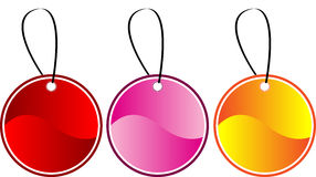 Colored gift tags Royalty Free Stock Image
