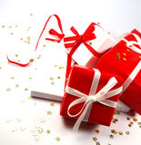 Colored gifts Royalty Free Stock Images