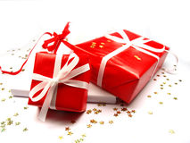 Colored gifts Stock Image