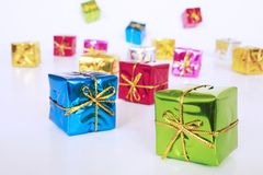 Colored Gifts Royalty Free Stock Photo