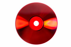 Colored glares on red CD/DVD isolated on white Stock Images