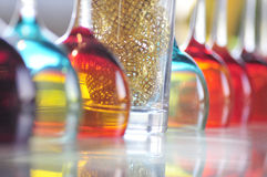 Colored glass. Some Colored glass in BAR Royalty Free Stock Image