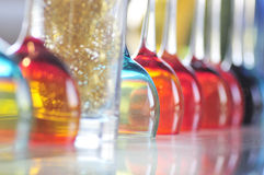Colored glass. Some Colored glass in BAR Royalty Free Stock Images