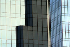 Colored Glass. Juxtaposition of office buildings in Charlotte, North Carolina Stock Photography