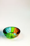 Colored glass. A glass object painted with various colors Royalty Free Stock Image