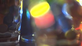 Colored glass stock footage