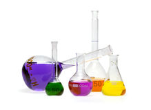 Colored glass ampoules Stock Photography
