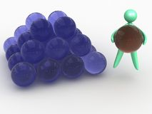Colored glass balls pyramid Royalty Free Stock Photos