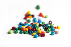 Colored glass beads isolated Stock Image