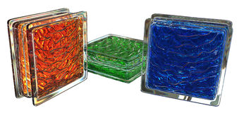 Colored glass blocks Stock Image