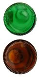 Colored glass bottle. Decorative with colored glass bottle Royalty Free Stock Images