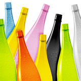Colored glass bottle Royalty Free Stock Image