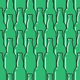 Colored glass bottles seamless pattern. Vector background royalty free illustration
