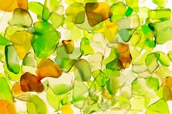 Colored glass. Glass, color, green, brown, white, art, contre-a-jour, Backlight, design Stock Image