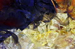 Colored glass cracked Royalty Free Stock Photography