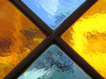 Colored glass detail close up Royalty Free Stock Image