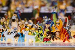 Colored glass figurines Royalty Free Stock Image