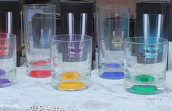 Colored glass Stock Images