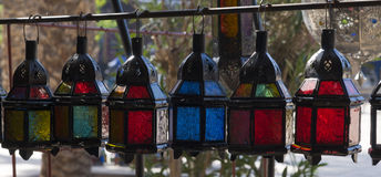 Colored glass latern Royalty Free Stock Photos