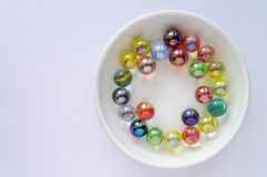 Colored glass marbles (1) Royalty Free Stock Photography