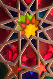Colored glass, shiraz, iran Royalty Free Stock Photo