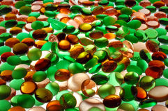 Colored glass spheres. For background Royalty Free Stock Photography