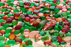 Colored glass spheres. For background Royalty Free Stock Photo