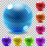 Colored glass spheres Stock Image