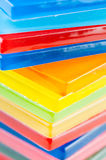 Colored glass tiles Stock Photos