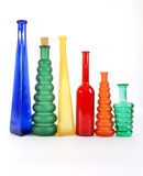 Colored glass vase Royalty Free Stock Photo