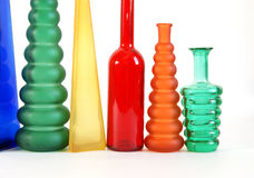 Colored glass vase Stock Photography