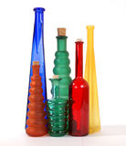 Colored glass vases Royalty Free Stock Images