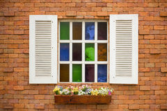 Colored Glass Window Royalty Free Stock Photos