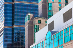 Colored glass windows of modern skyscrapers in Philadelphia Stock Image