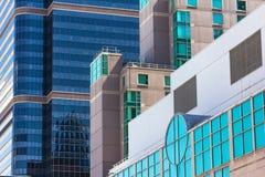Colored glass windows of modern skyscrapers in Philadelphia Stock Image